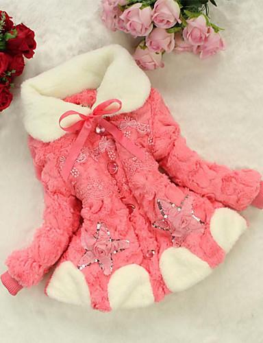 女の子 日常 カラーブロック その他 ダウン&コットンキルティング 冬 長袖 リボン フクシャ Brown ピンク