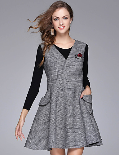 d73905638 Mujer Línea A Vestido Casual Diario Simple