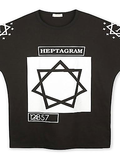 Trenduality® Herren Rundhalsausschnitt Kurze Ärmel T-Shirt Schwarz-43310