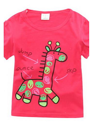 Fritid/hverdag T-skjorte Ensfarget Bomull Sommer 1/2 erme Normal