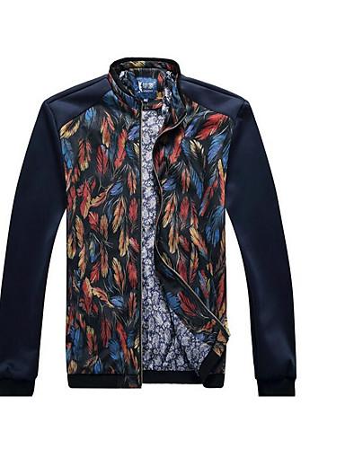 男性 プラスサイズ ソリッド ジャケット,ヴィンテージ ホルター マルチカラー コットン 長袖 ミディアム
