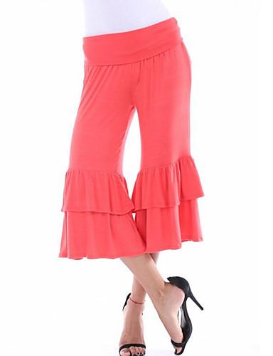 女性用 シンプル / ストリートファッション ブーッカット / チノパン パンツ ソリッド / 春 / 秋 / お出かけ