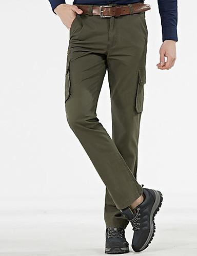 Miehet Yksinkertainen Mikroelastinen Chinos housut Housut,Löysä Keski vyötärö Yhtenäinen