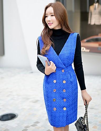 女性用 ヴィンテージ キュート ストリートファッション ワーク ボディコン ペンシルベイト スカート - ソリッド
