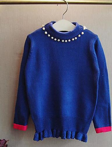 Mädchen Pullover & Cardigan Lässig/Alltäglich einfarbig Baumwolle Winter Herbst Lange Ärmel