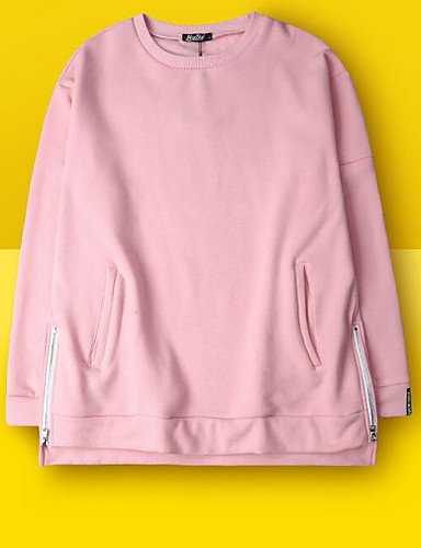 Damen Pullover Übergröße Lässig/Alltäglich Ausgehen Niedlich Buchstabe überdimensional Rundhalsausschnitt Fleece-Futter Mikro-elastisch