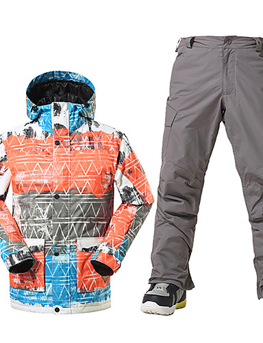 918d10d7 GSOU SNOW Men's Ski Jacket with Pants Waterproof Thermal / Warm Windproof  Ski / Snowboard Winter Sports Polyester Clothing Suit Ski Wear / Breathable  / ...
