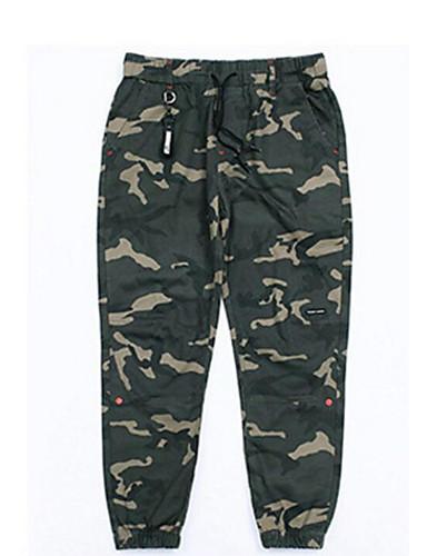 Herren Einfach Mittlere Hüfthöhe Mikro-elastisch Chinos Skinny Hose camuflaje