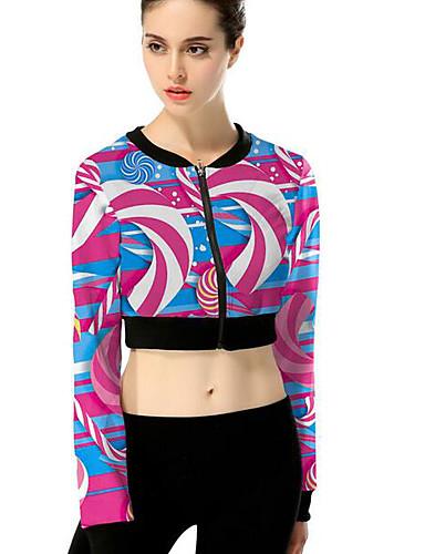 Damen Solide Geometrisch Einfach Niedlich Lässig/Alltäglich Hemd,Rundhalsausschnitt Langarm Baumwolle