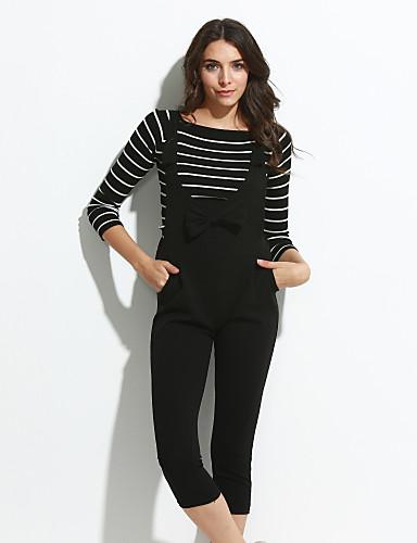 Uden ærmer Kvinders Simpel Jumpsuits Uelastisk Bomuld / Polyester