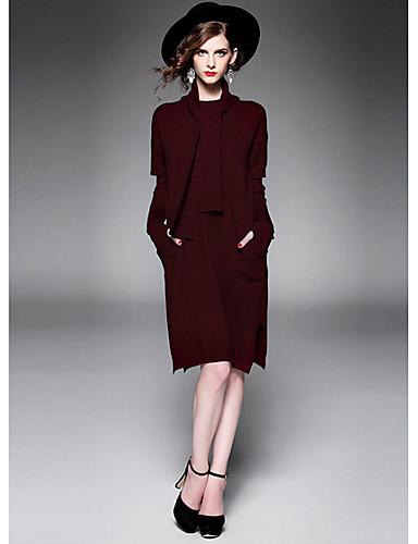 1118bc51d7e Tricot Robe Femme Habillées Chic de Rue