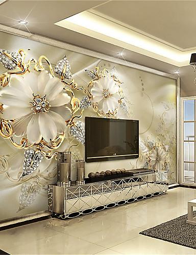 Недорогие Распродажа-Ар деко 3D Украшение дома Классика Облицовка стен, холст материал Клей требуется фреска, Обои для дома