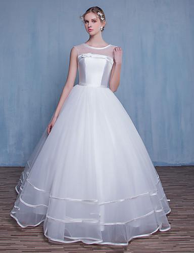 Prinzessin Hochzeitskleid Boden-Länge Schmuck Tüll mit