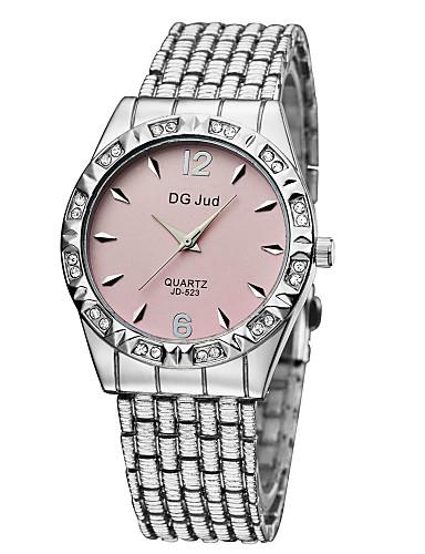 Hombre / Mujer / Pareja Reloj de Moda / Simulado Diamante Reloj Aleación Banda Plata / Dorado