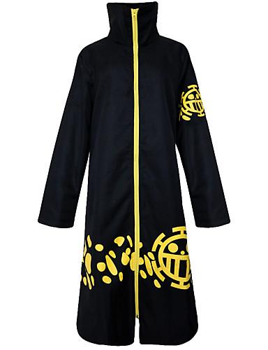 povoljno Anime kostimi-Inspirirana One Piece Trafalgar Law Anime Cosplay nošnje Japanski Cosplay Suits Vintage Dugih rukava Plašt Za Muškarci / Žene