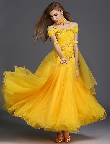 Balo Dansı Elbiseler Kadın's Eğitim Splandeks / Tül Kolsuz