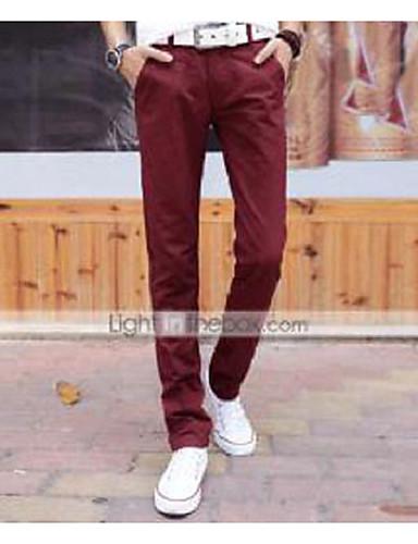 Erkek Günlük Normal Bel Mikro-Esnek Takım Elbise Şortlar Pantolon, Pamuklu Harf Bahar Sonbahar