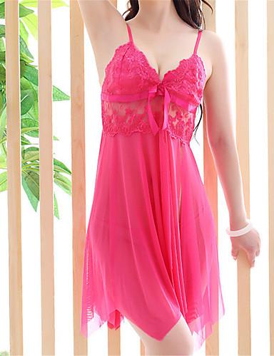 Damen Super Sexy Besonders sexy Dessous Hemden & Kleider Nachtwäsche - Gespleisst, Solide