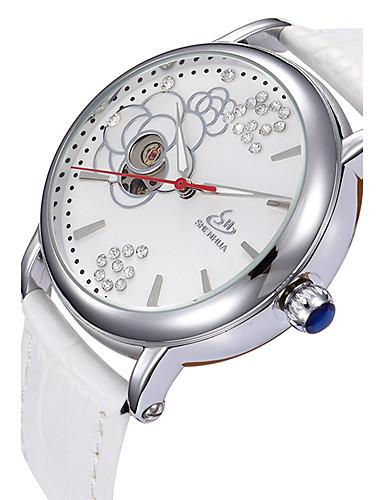 Pánské Sportovní hodinky Hodinky s lebkou Náramkové hodinky Automatické  natahování Pravá kůže Vícebarevný 50 m Žhavá c00069db48