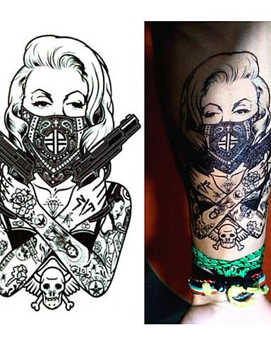 8b2f76724 1 pcs προσωρινή Τατουάζ Μιας χρήσης brachium / Πόδι / Στήθος Χαρτί  Αυτοκόλλητα Τατουάζ / Τατουάζ αυτοκόλλητο