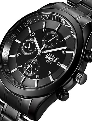BOSCK Муж. Армейские часы Наручные часы Авиационные часы Кварцевый Нержавеющая сталь Черный 50 m Светящийся Фосфоресцирующий Cool Аналоговый Кулоны На каждый день Мода - Черный Серый Розовый