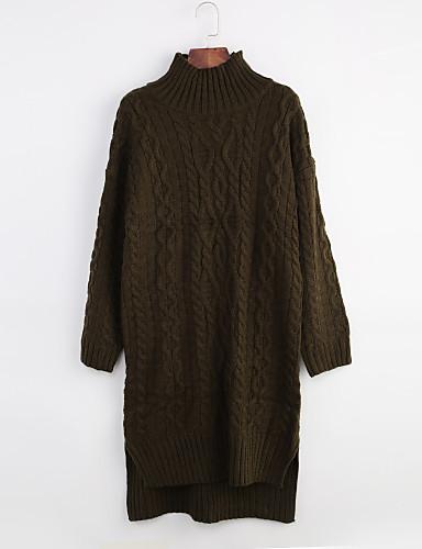 Dame Fritid Pullover - Ensfarget
