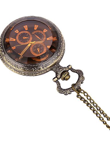 JUBAOLI Homens Quartzo Relógio de Bolso / Relógio Casual Lega Banda Casual Bronze
