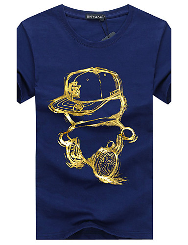 5e18588bb Homens Tamanhos Grandes Camiseta - Esportes Básico Estampado