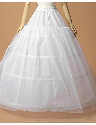 abordables Dessous de Robe de Mariage-Mariage Occasion spéciale Déshabillés Polyester Tulle Ras du Sol Robe trapèze Robe de soirée longue avec