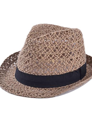قبعة الماصة لون سادة نسائي عتيق / الصيف