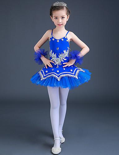 povoljno Odjeća za balet-Balet Haljine Seksi blagdanski kostimi Spandex / Til Čipka / Kristali / Rhinestones / Šljokice Bez rukávů Visok Haljina / Narukvice