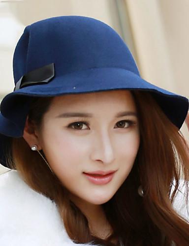 قبعة الدلو سادة كشمير للمرأة