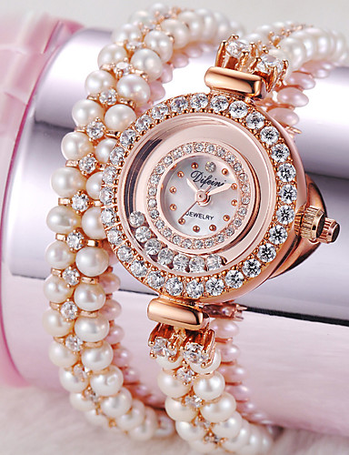 voordelige Armband Horloge-Dames Modieus horloge Kwarts Legering Band Wit Goud Goud Rose