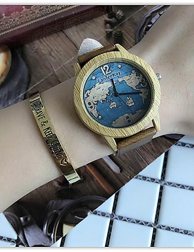6c1a0b31d89 Mulheres Relógio Casual Relógio de Pulso Único Criativo relógio Quartzo  Couro Preta   Marrom   Cáqui
