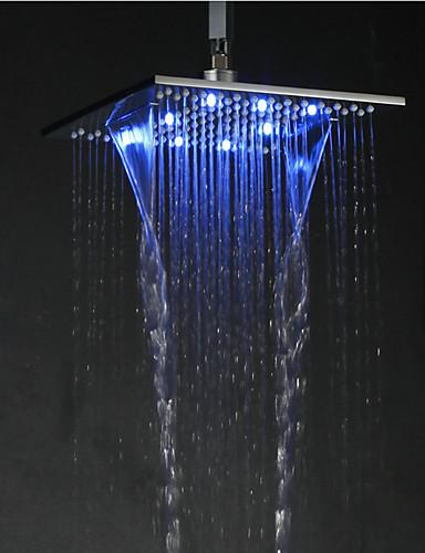 abordables Pommeaux de Douche LED-Contemporain Douche pluie Chrome Fonctionnalité for  Effet pluie LED , Pomme de douche