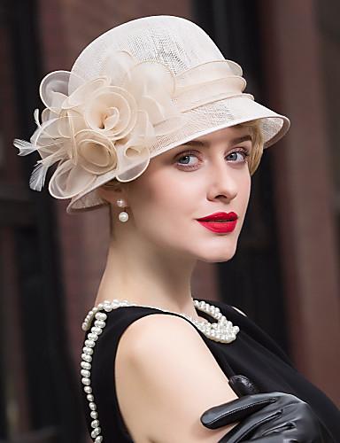billige Hatte & Imponeringer-Linfrø / Fjær Kentucky Derby Hat / fascinators / Hatter med 1 Bryllup / Spesiell Leilighet / Avslappet Hodeplagg