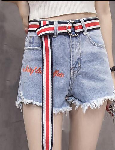 Dámské Jednoduchý Mikro elastické Džíny Kalhoty Široké nohavice High Rise Jednobarevné