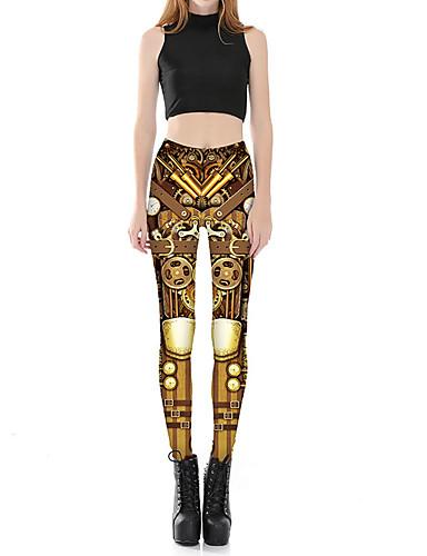 Dámské Větší velikosti Roztomilý Sexy Lehce elastické Upnuté Kalhoty chinos Kalhoty Mid Rise Polyester Jaro. Podzim. Zima. Léto