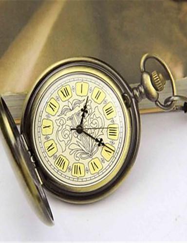 남성용 회중 시계 기계식 시계 오토메틱 셀프-윈딩 합금 밴드 브론즈