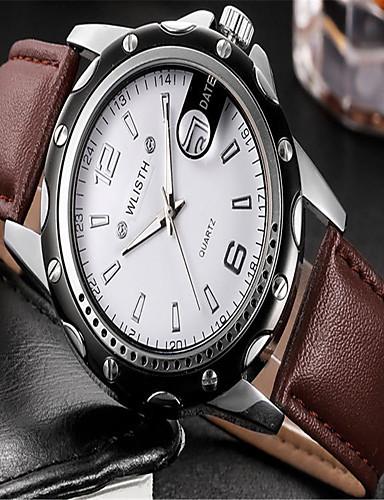 Pánské Módní hodinky Křemenný Kůže Kapela Běžné nošení Černá Hnědá