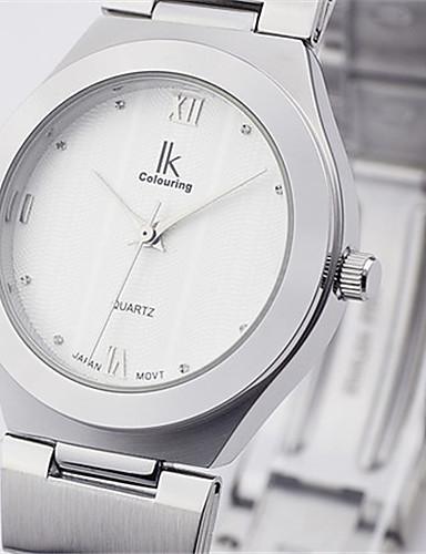 Damen Sportuhr Modeuhr Mechanische Uhr Quartz Wasserdicht Legierung Band Silber