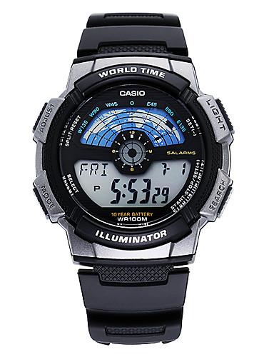 Casio Pánské Sportovní hodinky Módní hodinky japonština Křemenný Kalendář Voděodolné Odolný vůči nárazu Velký ciferník Pryž Kapela Cool