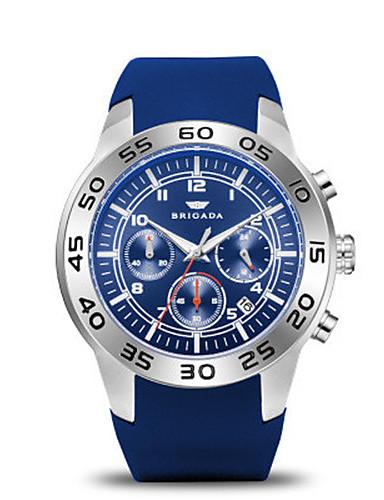 Pánské Sportovní hodinky Módní hodinky Křemenný Kalendář Voděodolné Silikon Kapela Modrá Orange