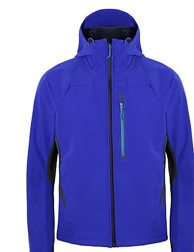 cheap Outdoor Clothing-Unisex Hiking Fleece Jacket Outdoor Waterproof Windproof Fall Winter Softshell Bottoms Camping / Hiking Light Yellow Ink Blue Dark Green L XL XXL