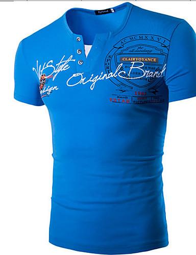 Herrn Solide T-shirt, Rundhalsausschnitt Baumwolle
