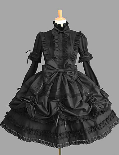 8d79b04b6b8e0 Princess Gothic Lolita Dress Classic Lolita Dress Punk Women's Girls' Dress  Cosplay Black Ball Gown Cap Sleeve Short Sleeve Short / Mini Plus Size ...