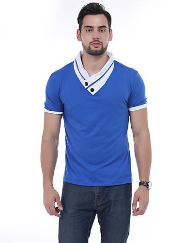 Homens Camiseta Activo Patchwork, Retalhos