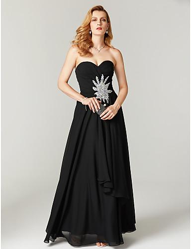 Tubinho Decote Princesa Longo Chiffon Evento Formal Vestido com Apliques Detalhes em Cristal Pregas Cruzado de TS Couture®