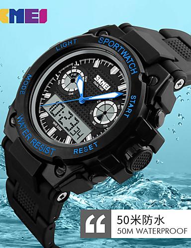 Homens Digital Relogio digital Relógio de Pulso Relógio inteligente Relógio Esportivo Chinês Calendário Impermeável Mostrador Grande