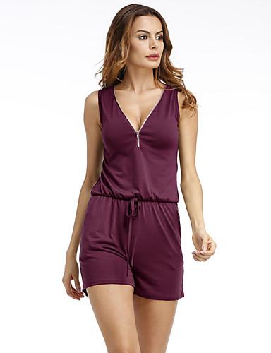 ثياب خارجية فضفاضة نسائي لون الصلبة رياضي Active قياس كبير V رقبة مناسب للعطلات / مناسب للخارج